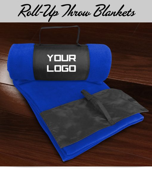 Custom Roll Up Fleece Throw Blanket