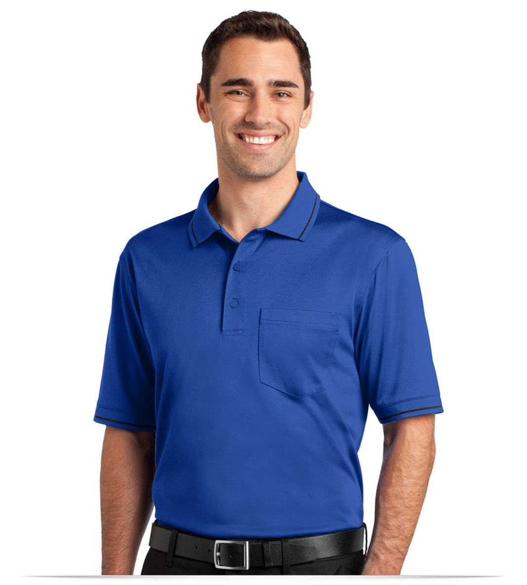 Customize Corner Stone Snag-Proof Tipped Pocket Polo