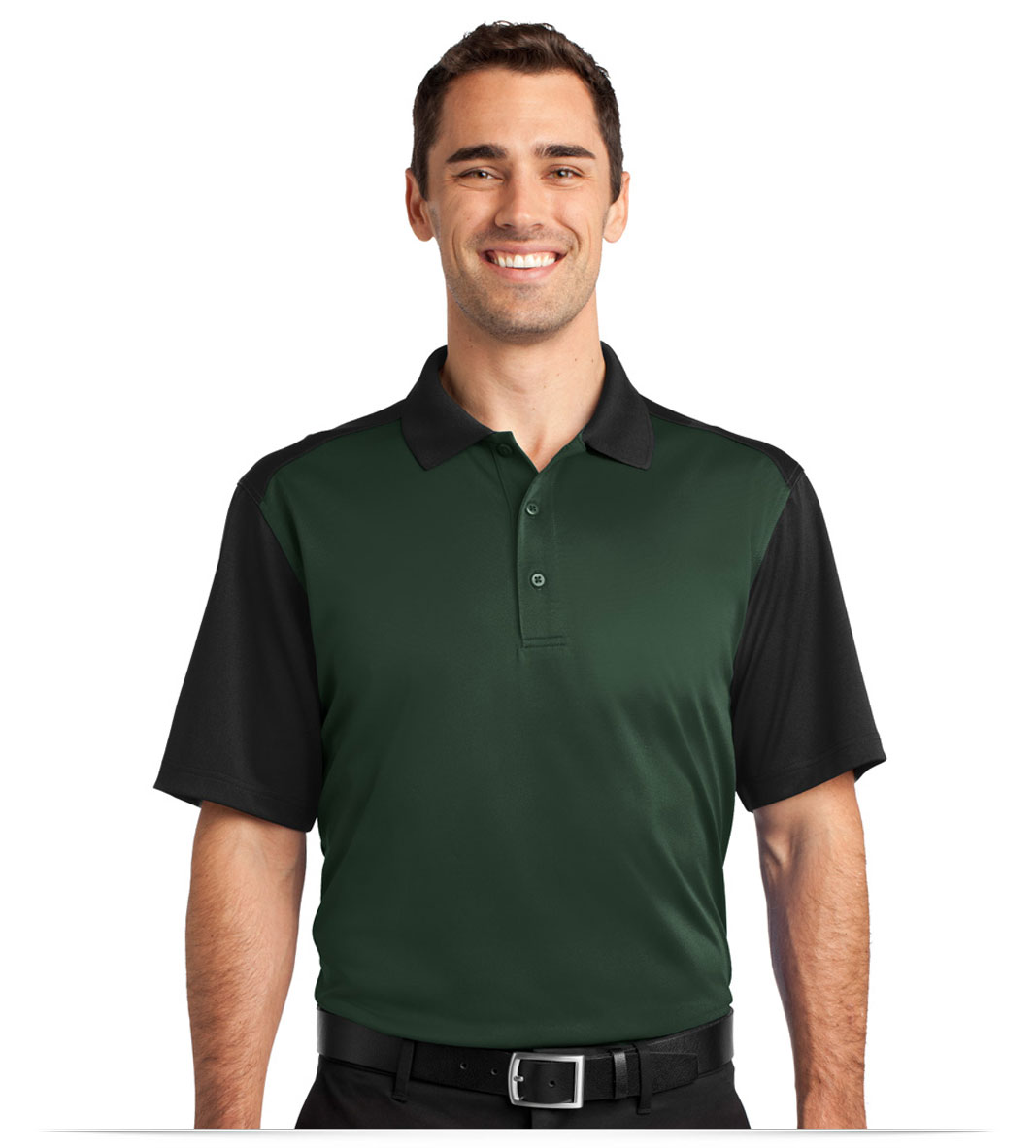 Customize Logo Corner Stone Snag-Proof Blocked Polo