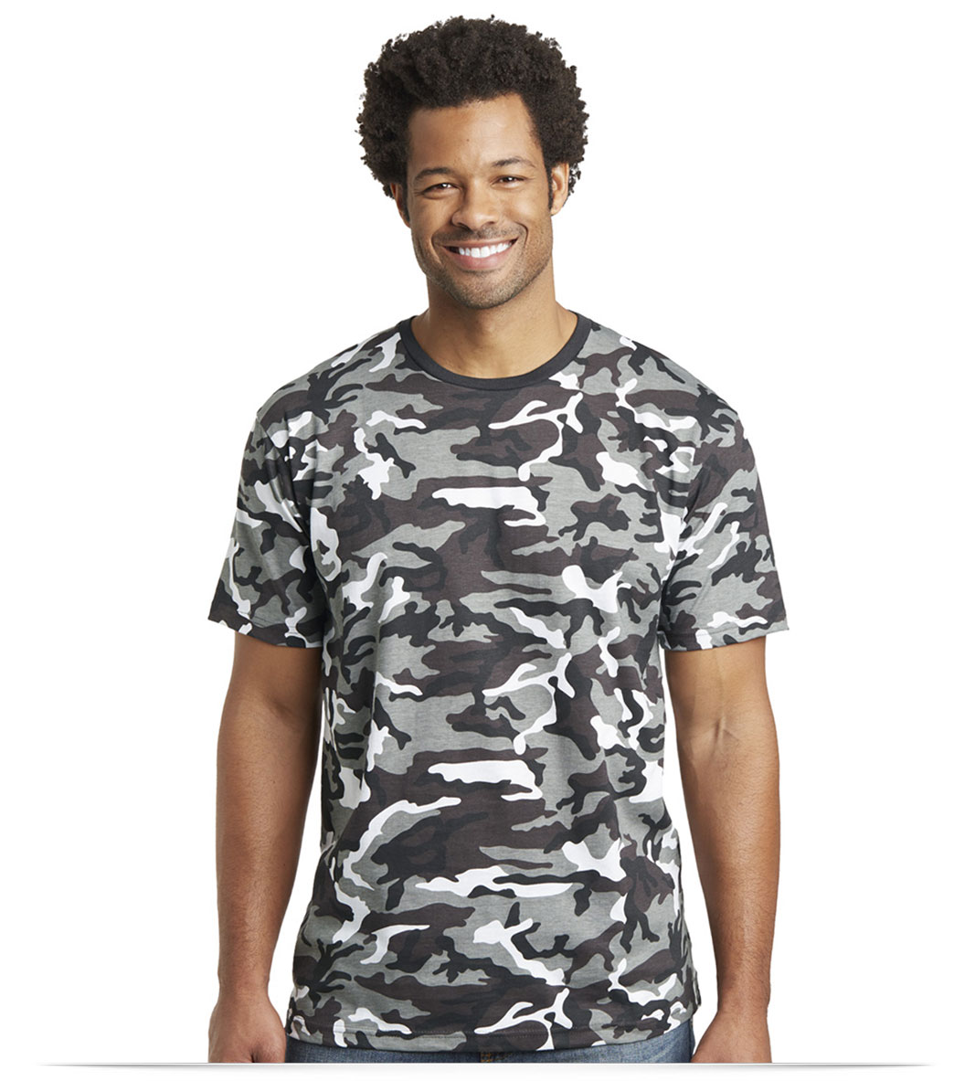 Design District Men's Camo Crew Tee