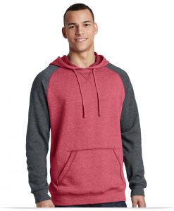 Embroidered District Lightweight Fleece Raglan Hoodie