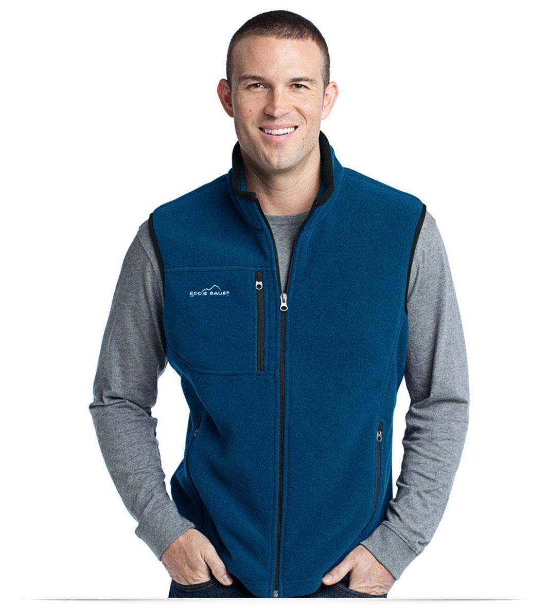 Personalize Embroidered Logo on Eddie Bauer Fleece Vest