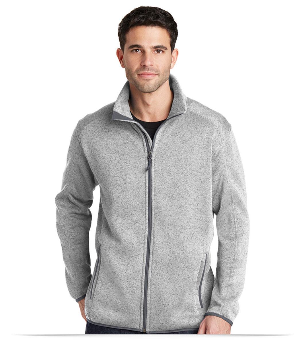 Sweater Fleece Jacket Customize Logo