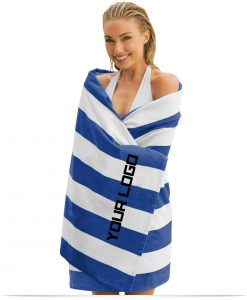 Custom Cabana Stripe Beach Towel