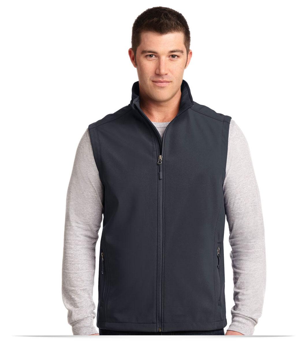 Custom Logo on Port Authority Core Soft Shell Vest