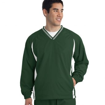 Custom Sport-Tek Tipped V-Neck Raglan Wind Shirt