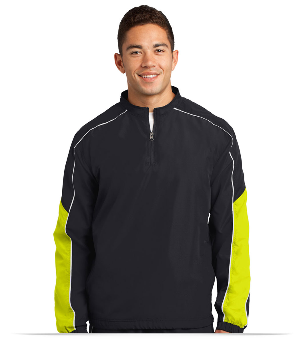 Design Sport-Tek Piped Colorblock 1/4-Zip Wind Shirt