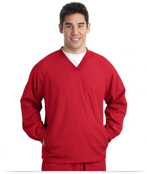 Custom Sport-Tek V-Neck Raglan Wind Shirt