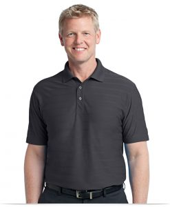 Personalized Port Authority Horizontal Texture Polo