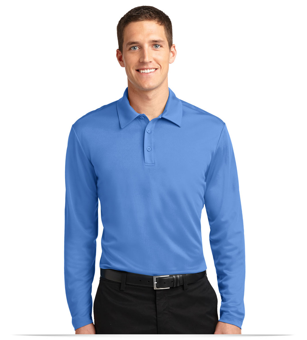 Customize Silk Touch Performance Long Sleeve Polo