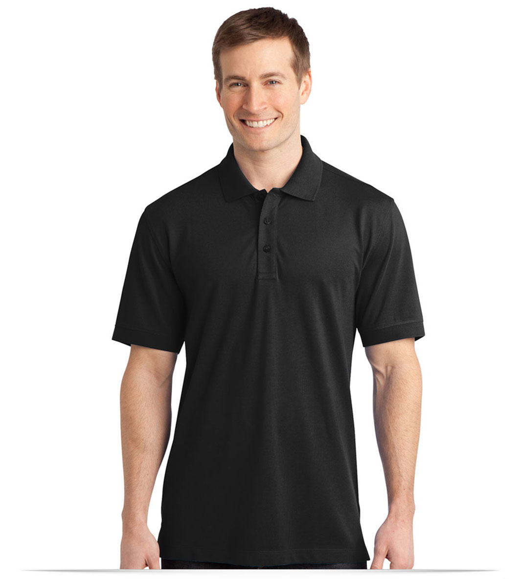 Custom Port Authority Stretch Pique Polo