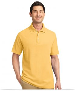 Customize Port Authority Tall EZCotton Pique Polo