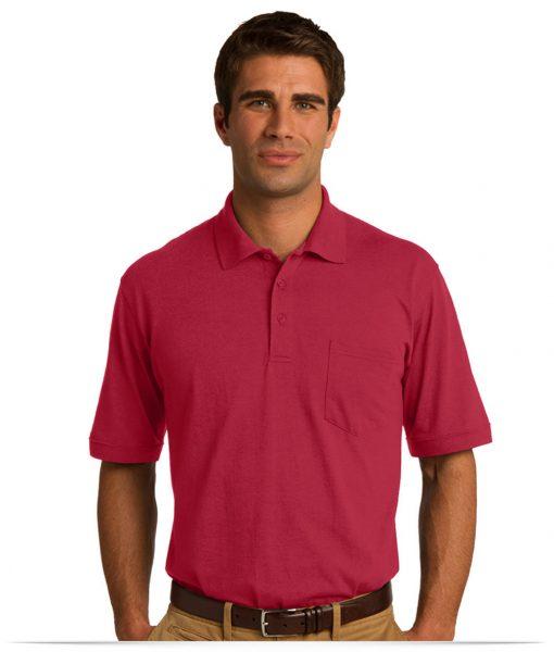 custom Jersey Knit Pocket Polo