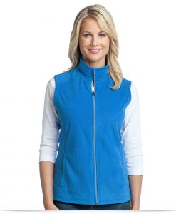 Embroidered Port Authority Ladies Microfleece Vest