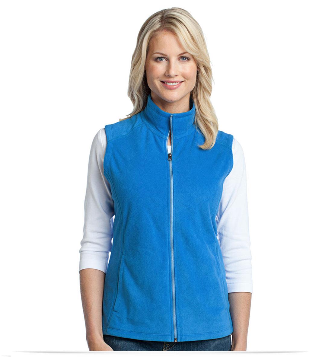 Embroidered Port Authority Ladies Microfleece Vest