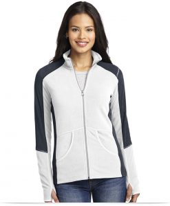 Customize Port Authority Ladies Colorblock Microfleece Jacket