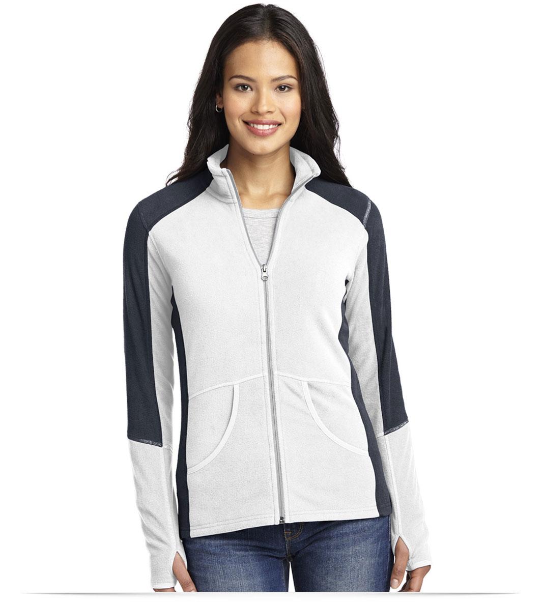 Customize Port Authority Ladies Colorblock Microfleece Jacket
