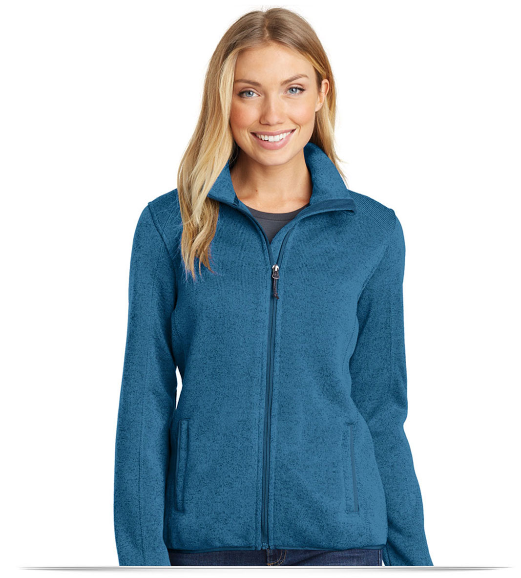Embroidered Port Authority Ladies Sweater Fleece Jacket