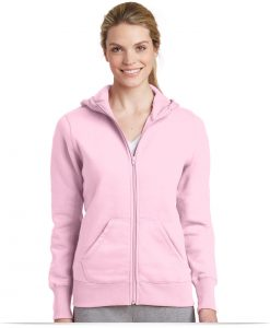 Embroidered Sport-Tek Ladies Full-Zip Hooded Fleece Jacket