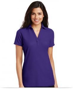 Customize Port Authority Ladies Silk Touch Y-Neck Polo