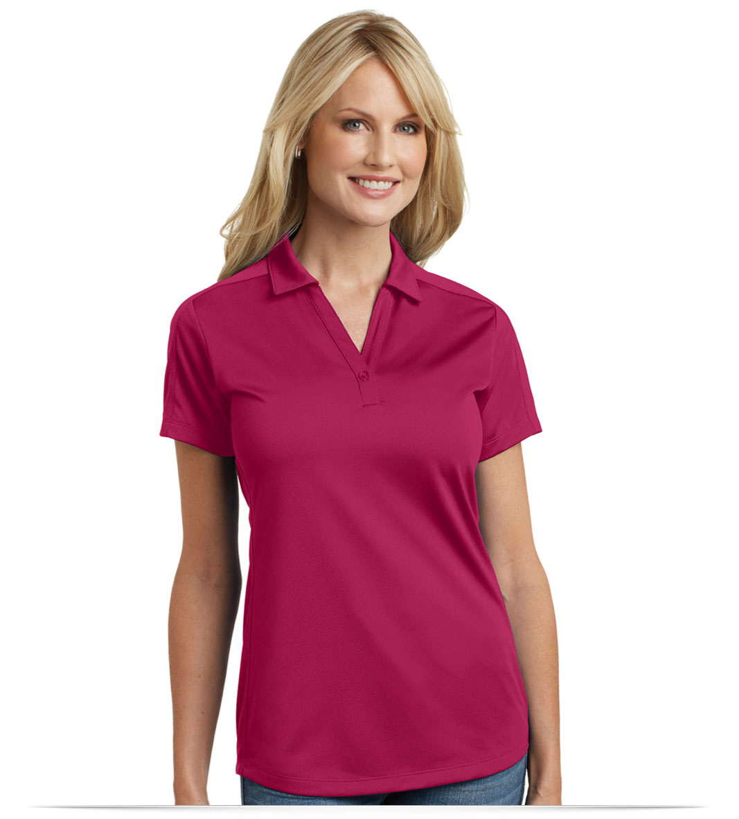 Customize Logo Port Authority Ladies Diamond Jacquard Polo