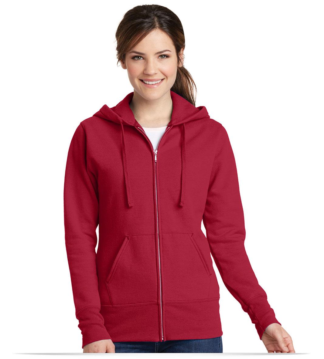 Customize Port and Company Ladies Classic Full-Zip Hoodie