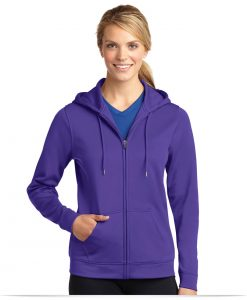 Customize Sport-Tek Ladies Fleece Full-Zip Hooded Jacket
