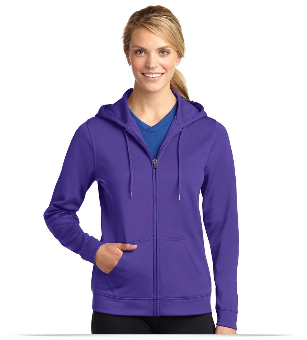 Customize Sport-Tek Ladies Fleece Full-Zip Hooded Jacket
