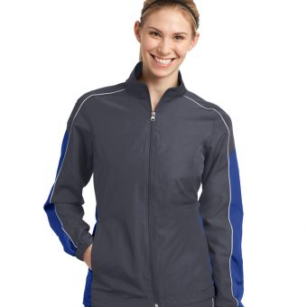 Custom Sport-Tek Ladies Piped Colorblock Wind Jacket