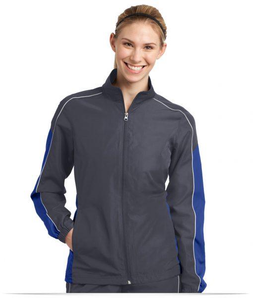 Custom Sport-Tek Ladies Piped Colorblock Wind Jacket
