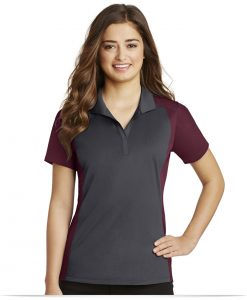 Personalized Sport-Tek Ladies Colorblock Micropique Polo