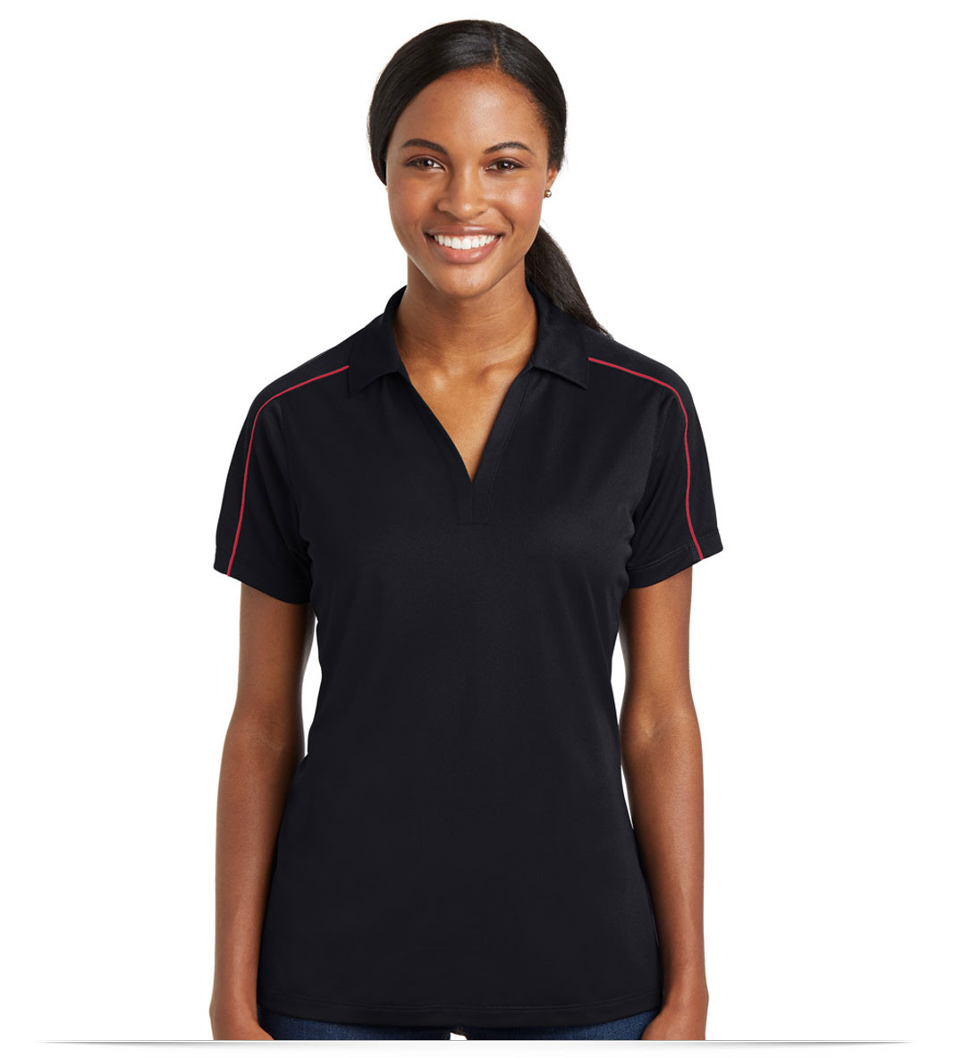 Customize Logo Sport-Tek Ladies Sport-Wick Piped Polo