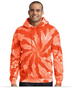 Custom Port Tie-Dye Hooded Pullover
