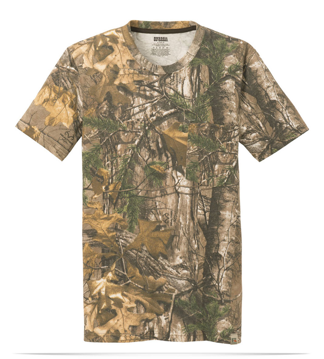 Custom Russell Outdoors 100% Cotton T-Shirt with Pocket