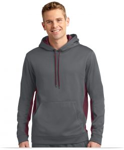 Embroidered Sport-Tek Fleece Colorblock Hooded Pullover