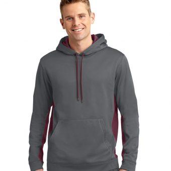 Embroidered Sport-Tek Fleece Colorblock Hooded Pullover