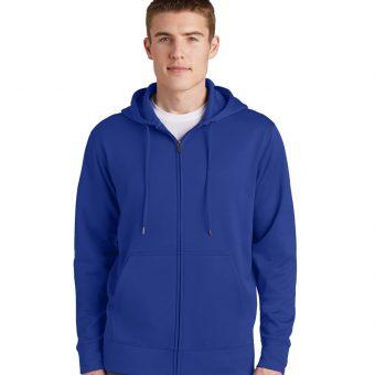 Custom Logo on Sport-Tek Fleece Full-Zip Hooded Jacket