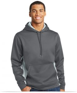 Embroidered Sport-Tek CamoHex Fleece Colorblock Hoodie