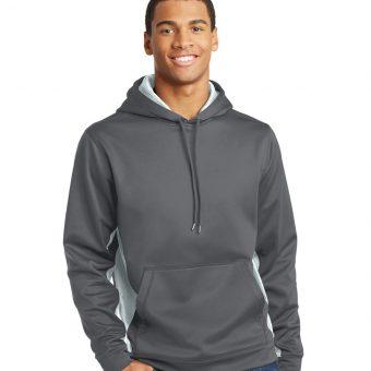 Embroidered Sport-Tek CamoHex Fleece Colorblock Hoodie