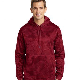 Custom Logo on Sport-Tek CamoHex Fleece Hooded Pullover