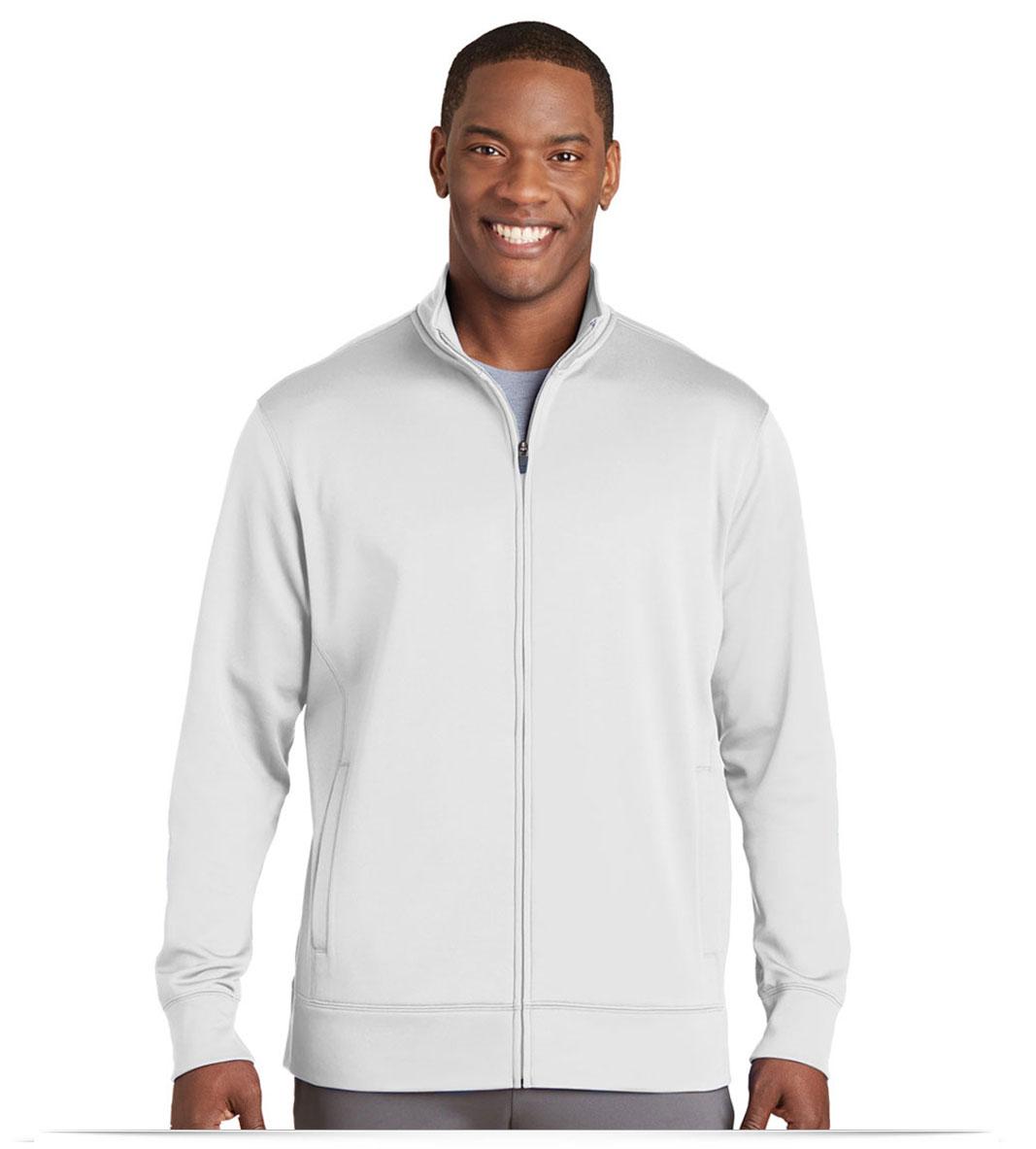 Personalize Logo on Sport-Tek Sport-Wick Fleece Full-Zip Jacket