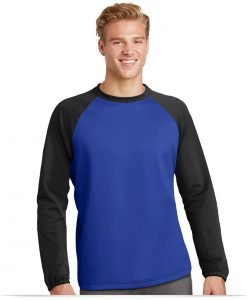 Customize Sport-Tek Raglan Colorblock Fleece