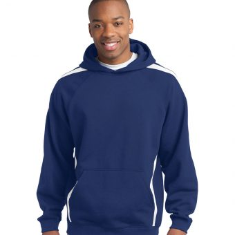 Custom Sport-Tek Sleeve Stripe Hooded Sweatshirt