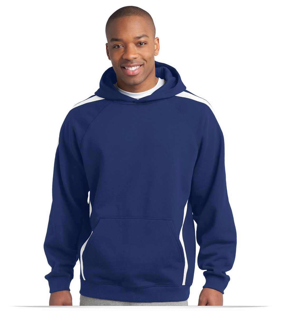 Custom Sport-Tek Sleeve Stripe Hooded Sweatshirt