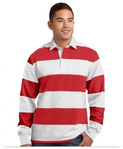 Customize Sport-Tek Long Sleeve Rugby Polo