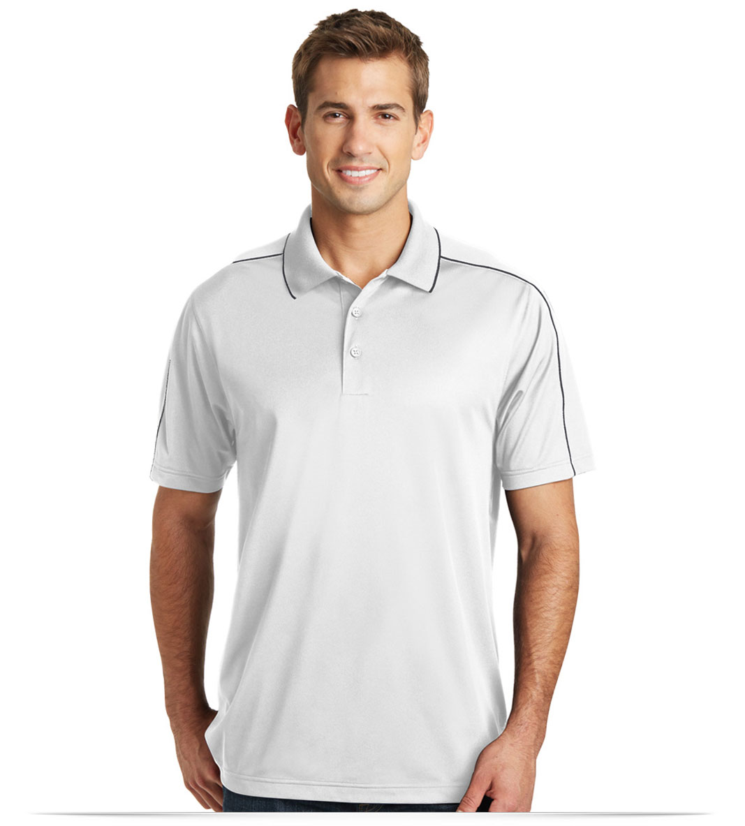 Personalized Sport Tek Micropique Sport Wick Piped Polo