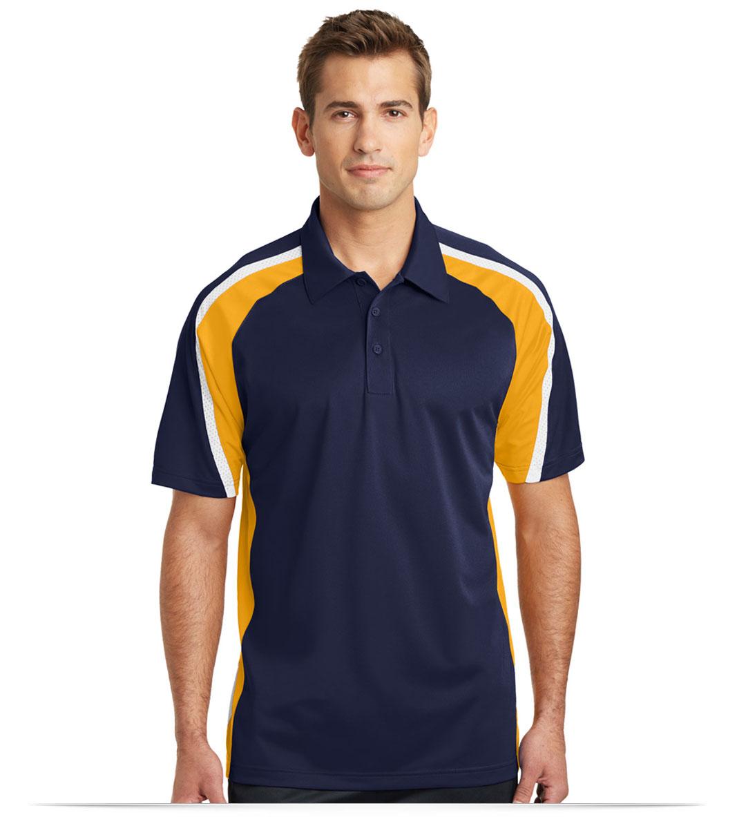 Customize Logo Sport Tek Tricolor Micropique Sport Wick Polo