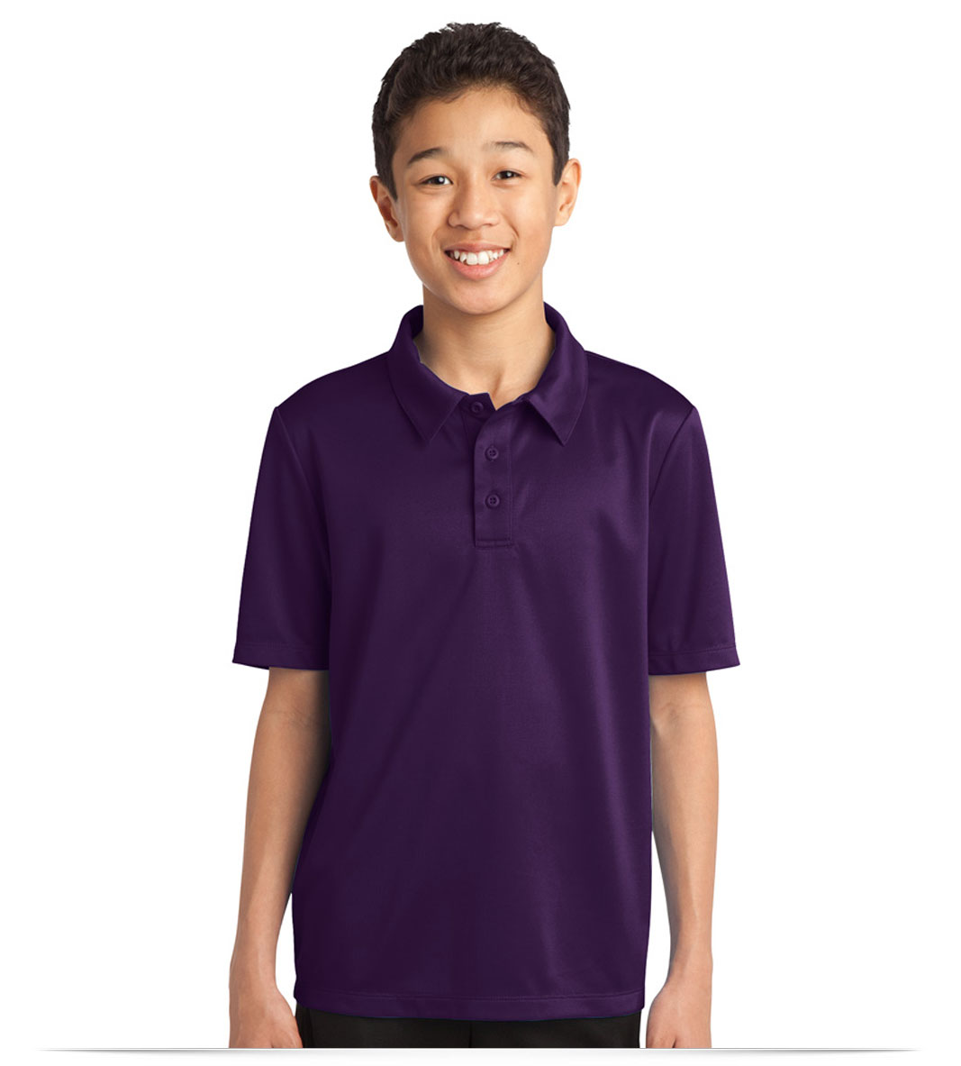 Customize Logo Port Authority Youth Silk Touch Performance Polo