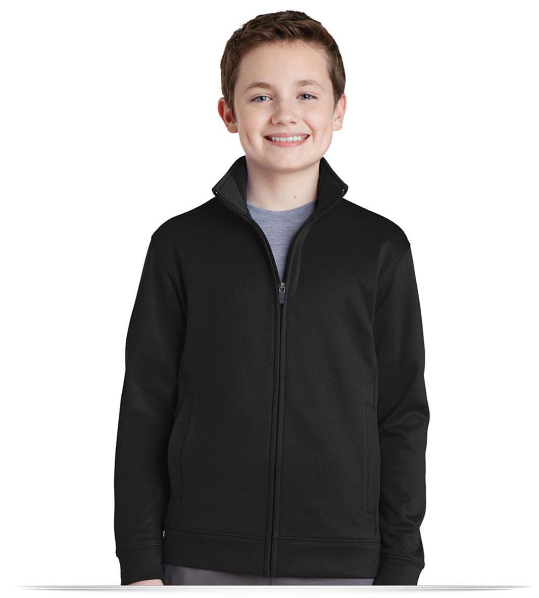 Custom Sport-Tek Youth Sport-Wick Fleece Full-Zip Jacket