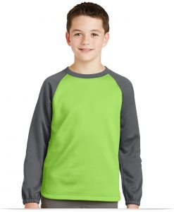 Customize Sport-Tek Youth Raglan Colorblock Fleece